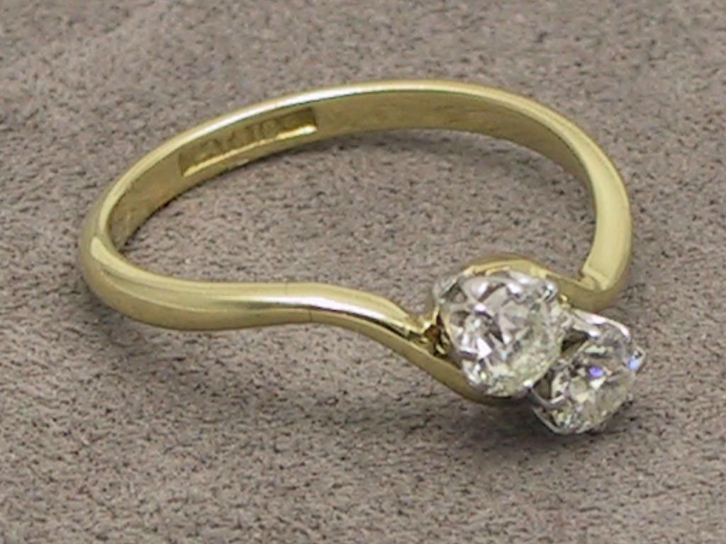 m ring carat gold size p uk diamond yellow us asp solitaire