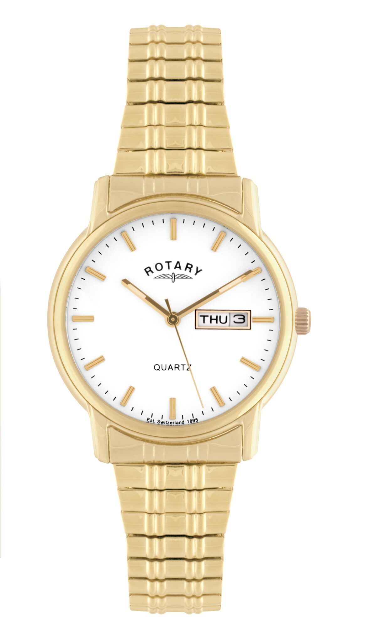 7900987d65f Home   Watches   Mens   Rotary · GB102764 08 Men s Rotary Gold Plated  Stainless Steel Expanding Bracelet Watch .