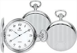 ROYAL LONDON Quartz Pocket Watch Full Hunter 90020-01 90020-02