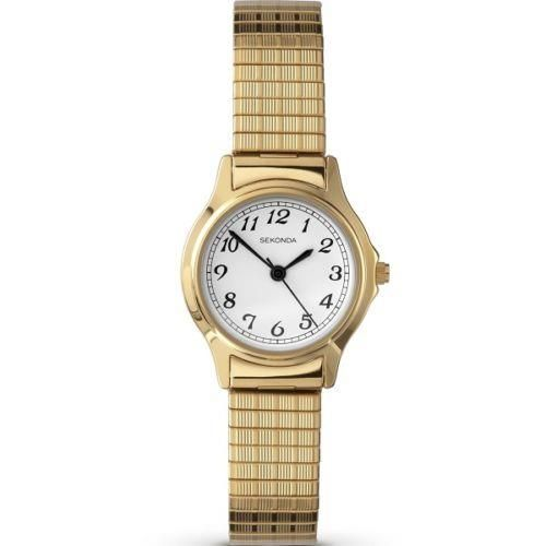 Sekonda 4134b Las Gold Plated Stainless Steel Expanding Bracelet Watch